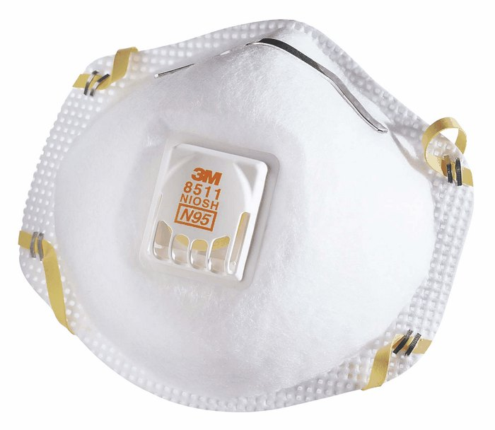 Respirators Flow 10 Box P95 Particulate 3m From Cool Valve Of