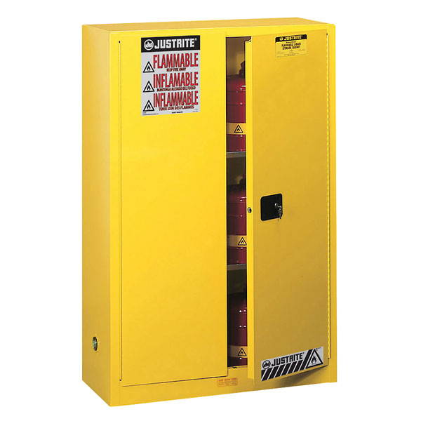 Captivating Justrite 894520 Flammable Storage Safety Cabinet 45 Gallons Self Closing  Door