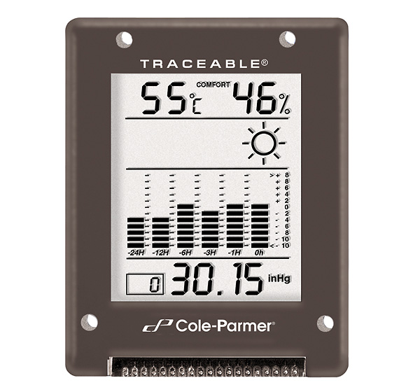 Cole Parmer Digital Barometer 794 To 1050 Mbar Rs 232